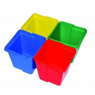 Syr Spacesaver Top Tray Container blauw/rood/groen/geel